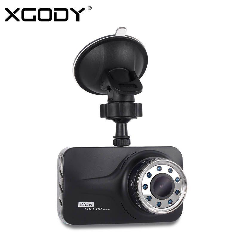 XGODY T639 DVR 3 Inch Dash cam Car Camera Night Vision With 9 IR Lights Driving Video Recorder Mirror Full HD 1080P Dashcam