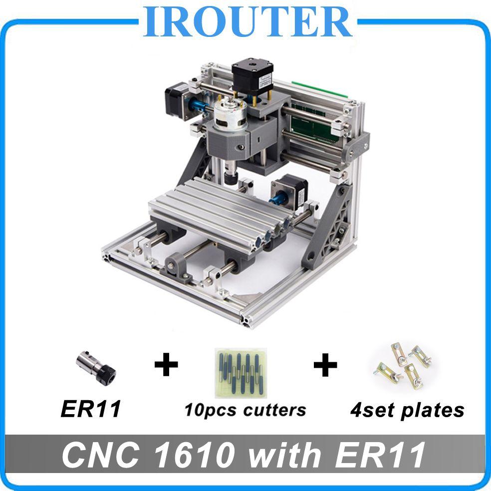 CNC 1610 avec ER11, mini bricolage CNC machine de gravure laser, Pcb fraiseuse, toupie à bois, CNC 1610, meilleur Avancée jouets