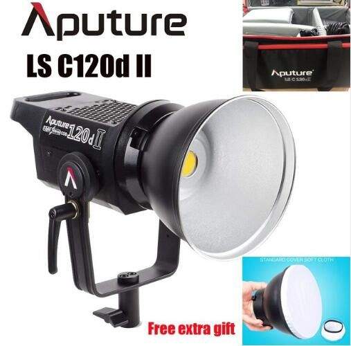 Aputure LS C120d 120D II Daylight 180W LED Continuous V-Mount Video Light CRI96+ TLCI97+ Bowens Mount Dual Power Supply Remote