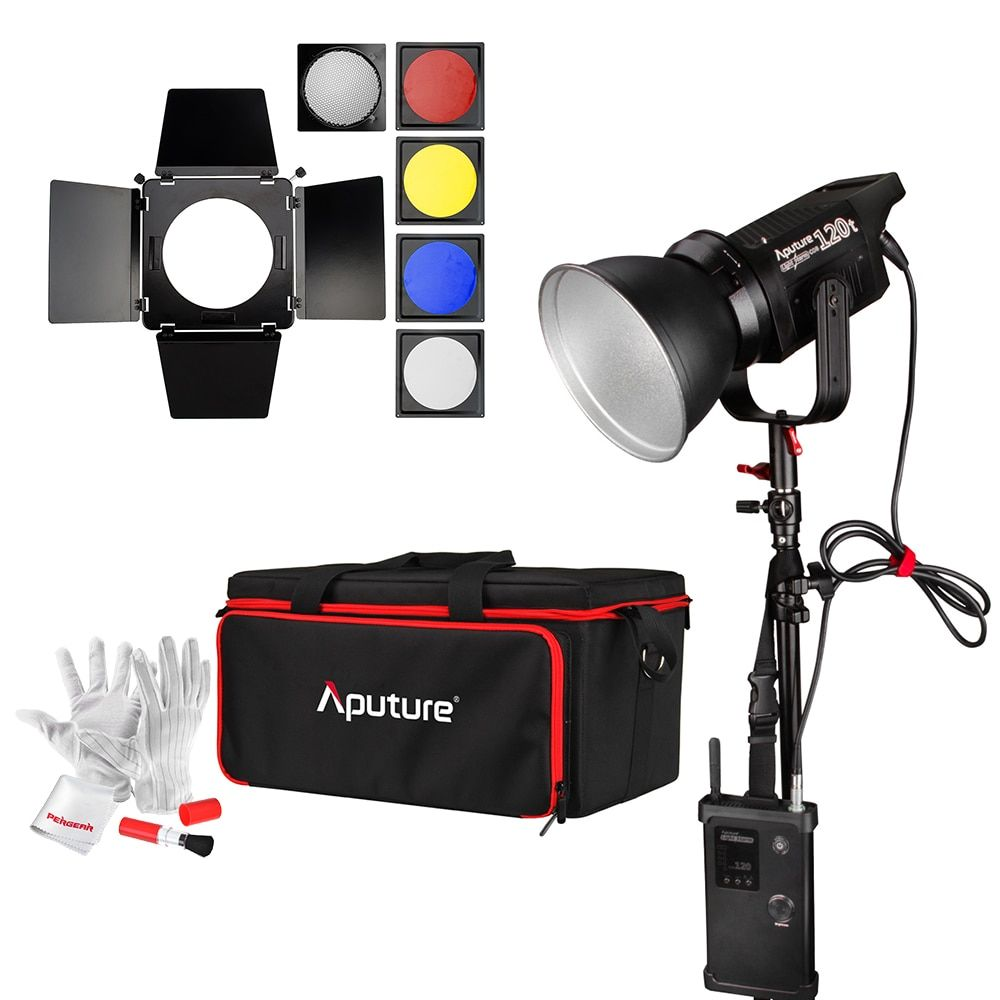 Aputure Light Storm COB 120t CRI97+ 3000K 135W Bowens Mount LED Continuous Video Light with 2.4G Wireless Remote + NiSi Diffuser