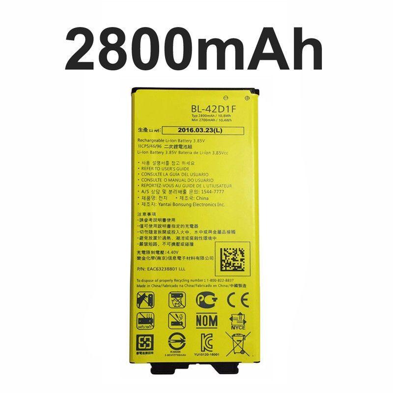 GTF Details über Original Für LG G5 G 5 BL-42D1F H850 VS987 H820 LS992 H830 US992 2800 mAH BATTERIE
