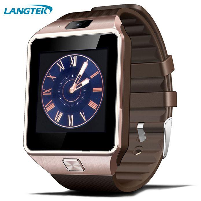 Bluetooth Dispositivos de vestir reloj inteligente dz09 para teléfono Android con tarjeta SIM smartphone salud smartwatches