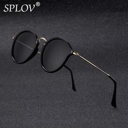 New Arrival Round Sunglasses coating Retro Men women Brand Designer Sunglasses Vintage mirrored glasses