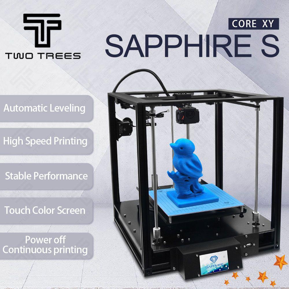 3D Printer High-precision Sapphire S CoreXY Automatic leveling Aluminium Profile Frame Big Area DIY Kit Core XY structure