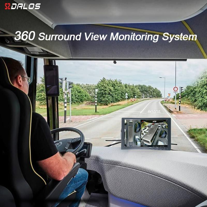 SZDALOS 3D HD 360 Surround view Monitoring System for Bus, RV, Motorhome, Truck with HD 1080P 4-CH DVR Recorder