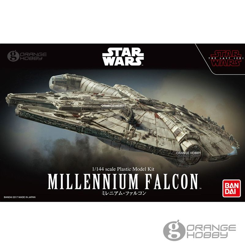 OHS Bandai Star War 1/144 Millennium Falcon The Last Jedi Ver. Assembly Scale Plastic Model Kits oh