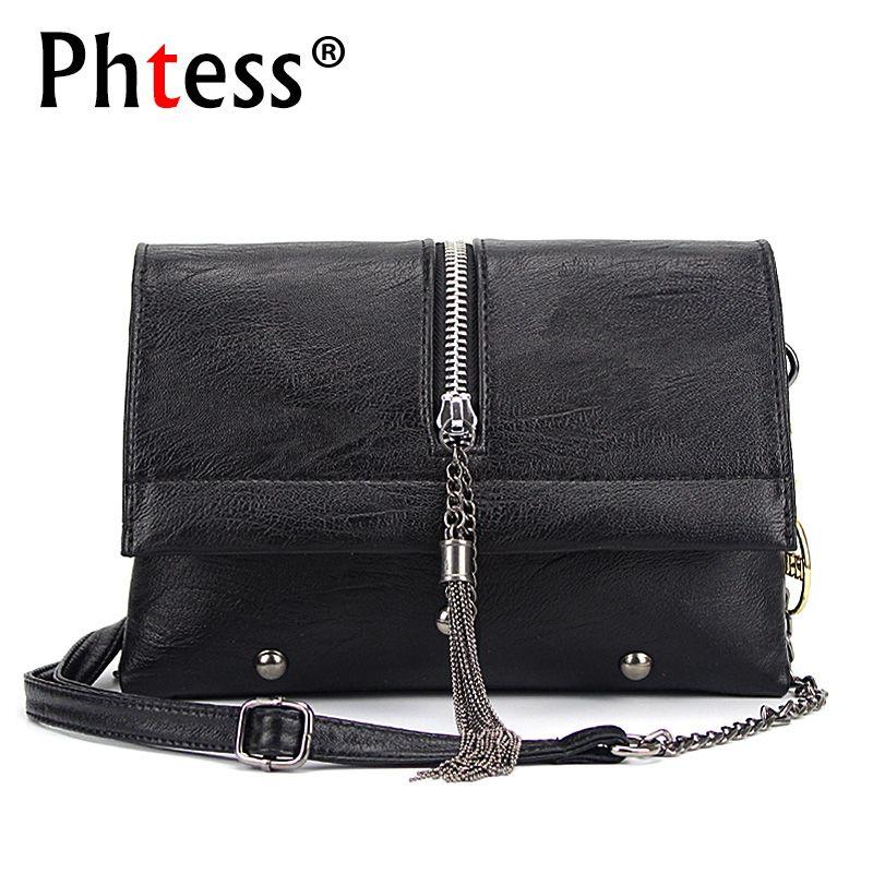 Summer Women Messenger Bags 2018 Vintage Leather Shoulder Bag <font><b>Crossbody</b></font> Bags For Women Fashion Tassel Handbag Shoulder Sac Bolsa