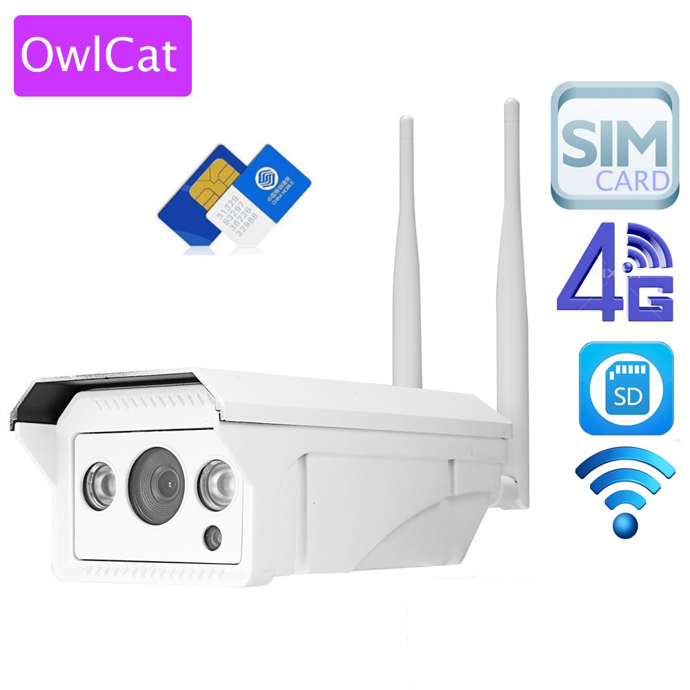 OwlCat Full HD 1080 P 960 P HD Bullet IP Caméra Sans Fil GSM 3G 4G Carte SIM Caméra IP Wifi Extérieure Étanche iPhone Android