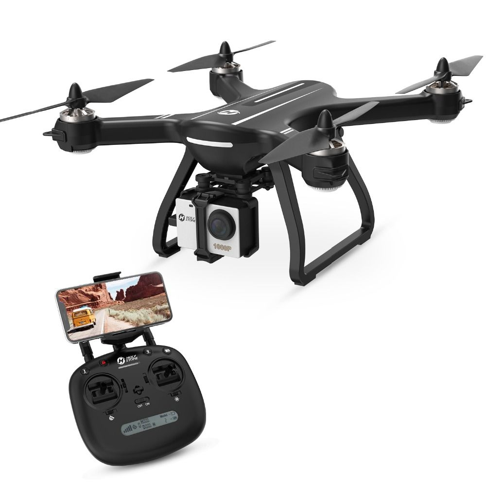 [USA EU Stock]Holy Stone HS700 1000m Range 20mins Flight Brushless Motor 5GHz 400m Wifi GPS FPV FHD 1920*1080P 2800mAh GPS Drone