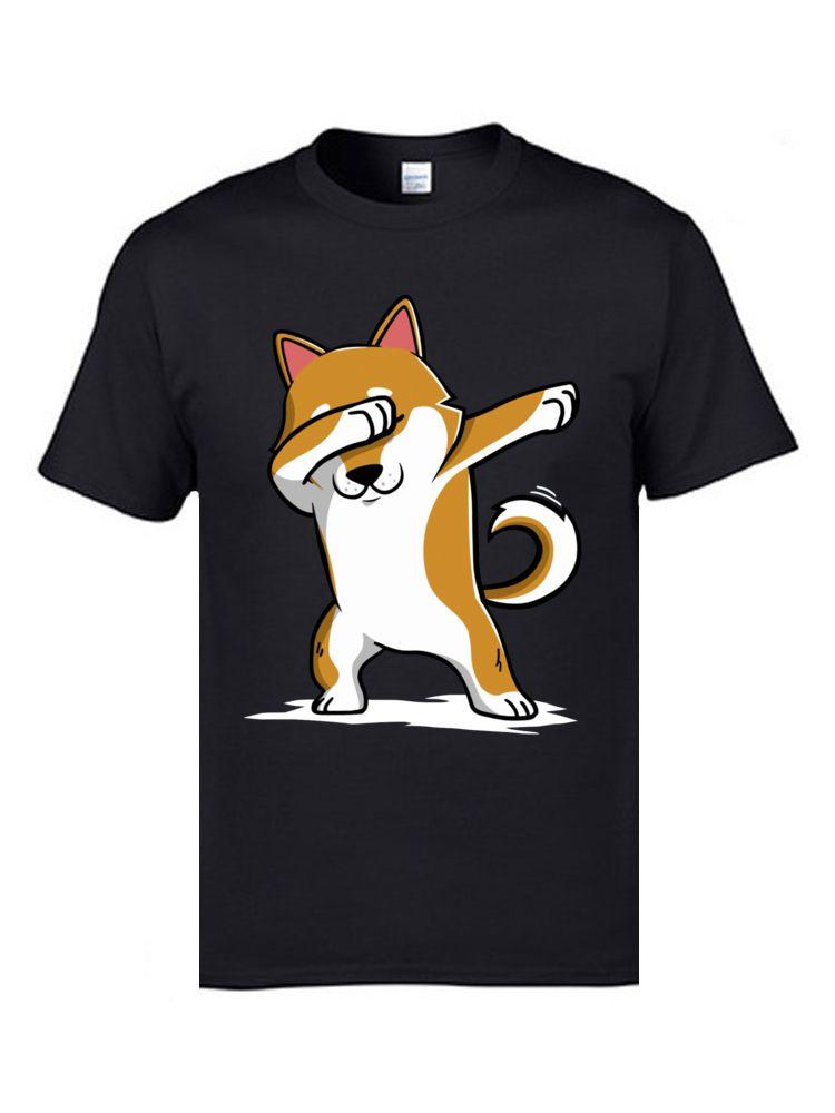 T-shirt drôle Dabbing Shiba Inu Terrier caniche chien hommes mignon t-shirt amour Akita Hiphop Rock DJ électronique T-Shirts pour hommes