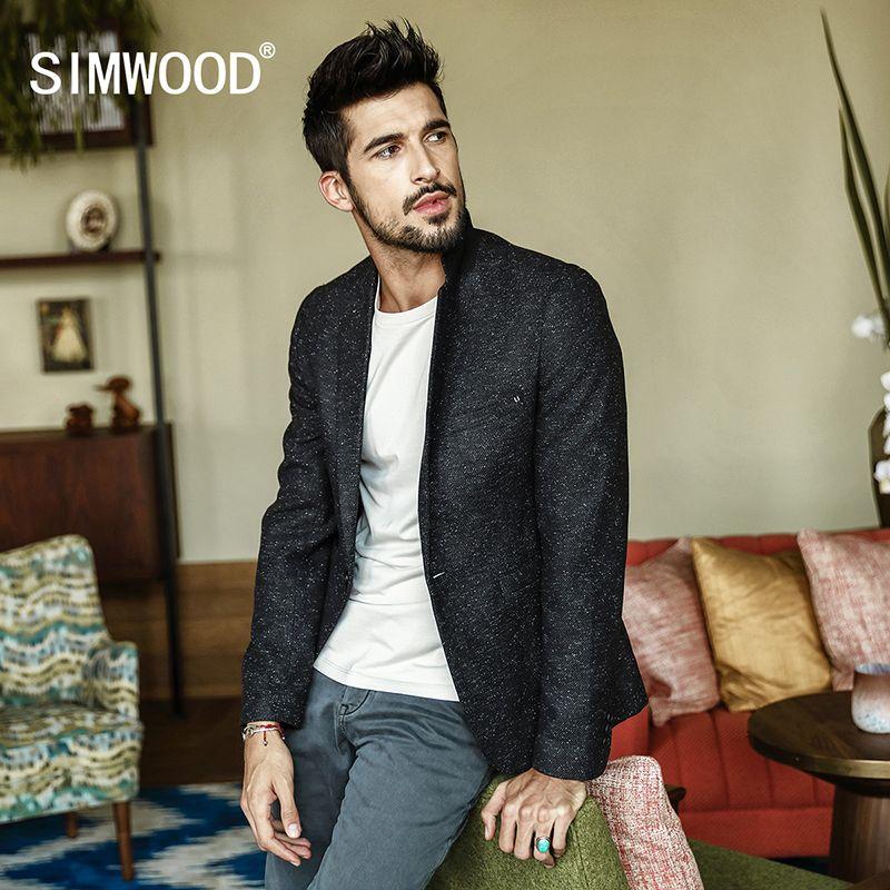 SIMWOOD 2018 Frühling Blazer Neue Mode Lässig Männer Blazer Baumwolle Dünne Klage Blazer Masculino Männlich Anzüge Jacke Blazer XZ017003