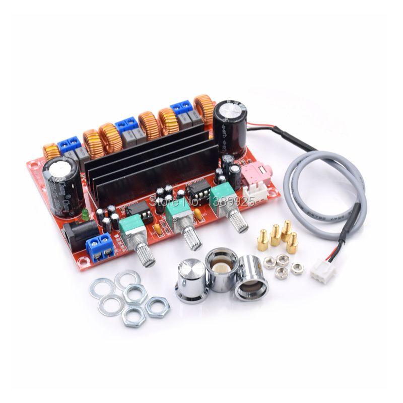 Calidad de Sonido TPA3116D2 Amplificador de Potencia Junta 50 W * 2 + 100 W 2.1 Canales Subwoofer Tablero Del Amplificador de Potencia Digital DC12V-24V