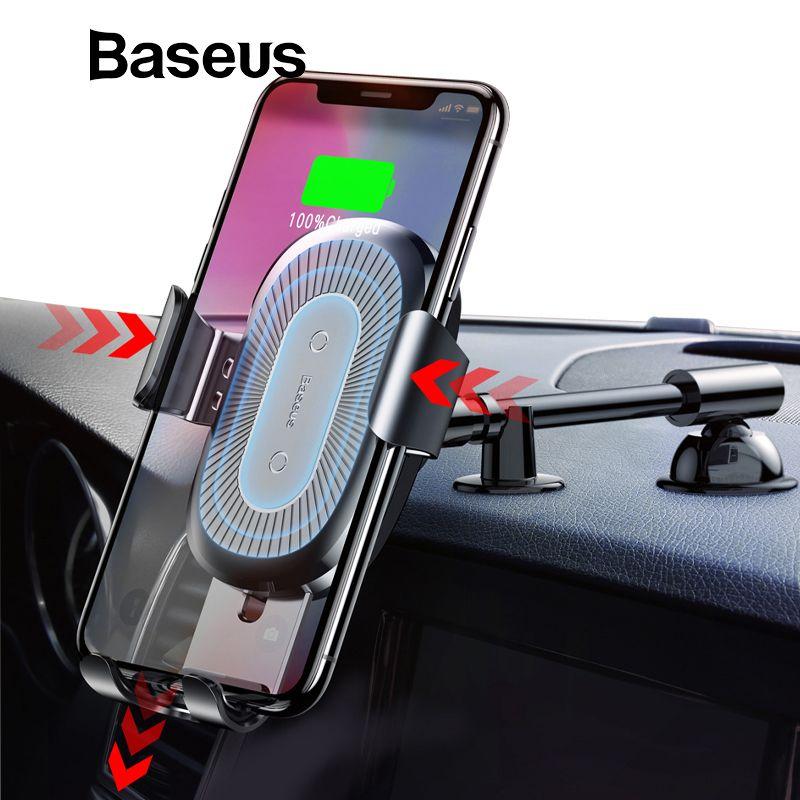 Baseus Qi Drahtlose Ladegerät Auto Telefon Halter für iPhone XS Halterung Schnelle Drahtlose Lade für Auto Handy Halter stehen