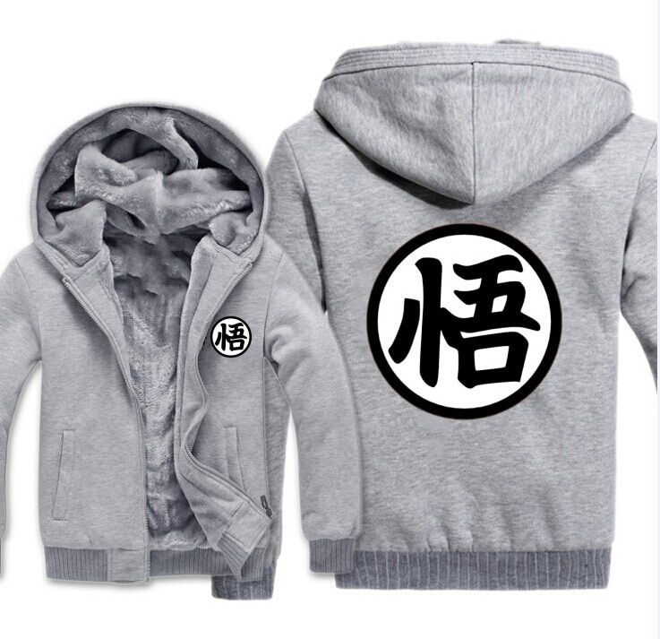 2018 New Fashion Thick Men's Hoodie Anime Seven Dragon Ball Hoodie Casual Cardigan Jacket Zipper Anime Peripheral Top