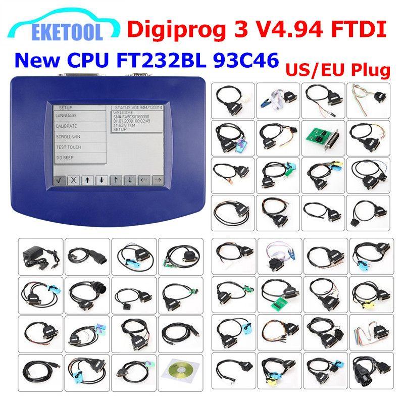 DIGIPROG 3 V4.94 Vollen Satz Alle Kabel Entfernungsmesser-korrektur 2018 Original CPU FTDI Digiprog3 Digiprog 3 V4.94 Laufleistung Korrektur
