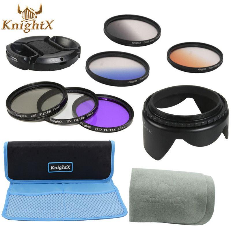 KnightX CPL UV FLD filtre gradué gris et couleur ensemble pour Canon Nikon Sony Pentax Olympus 49mm 52mm 55mm 58mm 62mm 67mm objectif 77