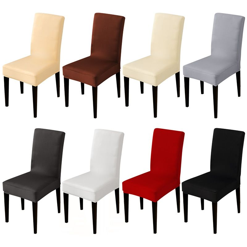 Solid color stretch Chair Cover Spandex Fabric seat Chair Covers restaurant Hotel Party Banquet Slipcovers home decoration event