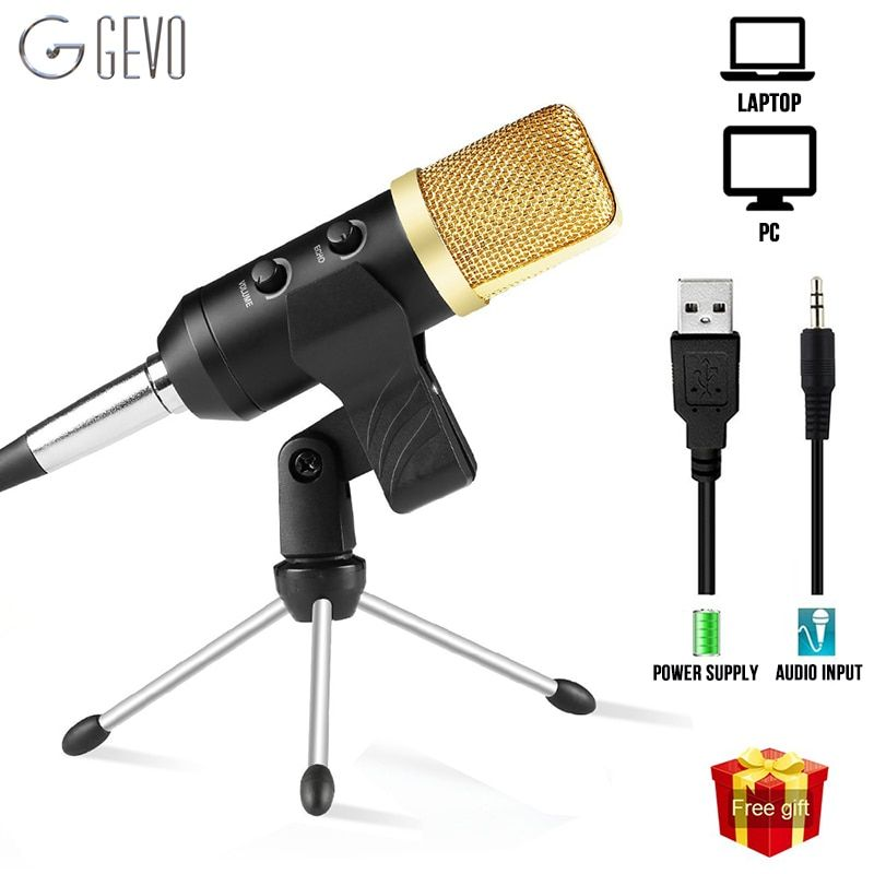 GEVO MK F100TL USB Microphone Studio Professional Condenser Wired Computer Microphone With Stand For Karaoke Video <font><b>Recording</b></font> PC