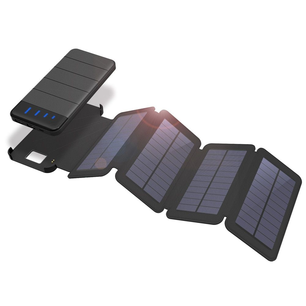 Solar Chargers 10000mAh Solar Phone Charger Removable Solar Panel Charger for iPhone 5s SE 6 6s iPhone 7 8 X Samsung LG HTC.