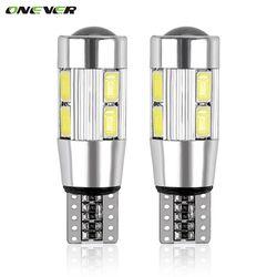 2 шт. стайлинга автомобилей авто светодиодный T10 Canbus 194 W5W 10 SMD 5630 Светодиодный лампочки нет ошибок светодиодный свет парковка T10 светодиодный ...