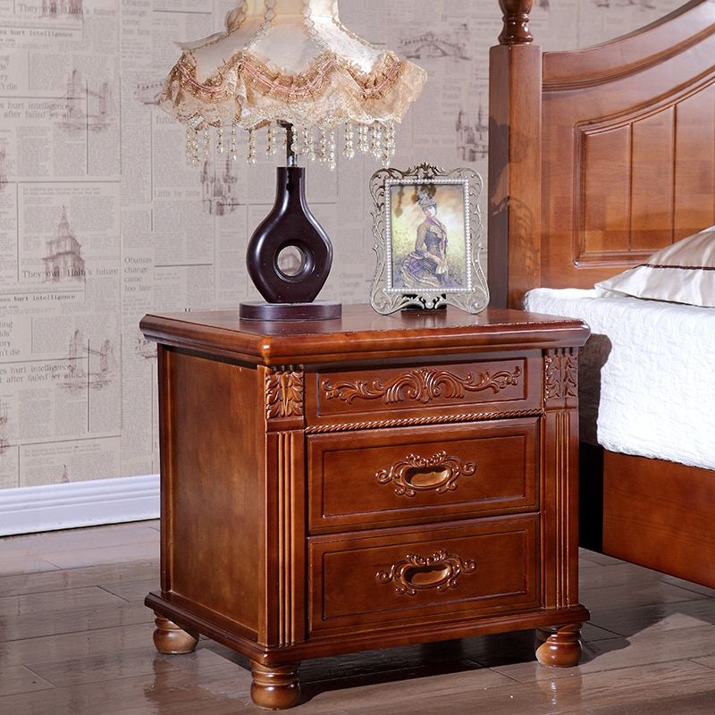 Bedside cabinet is simple, modern solid wood equipped with bedroom bedside storage cabinet nightstand furniture mesa de noche