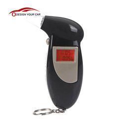 Respuesta Rápida profesional digital LCD retroiluminada breath Tests de alcoholemia alerta audible