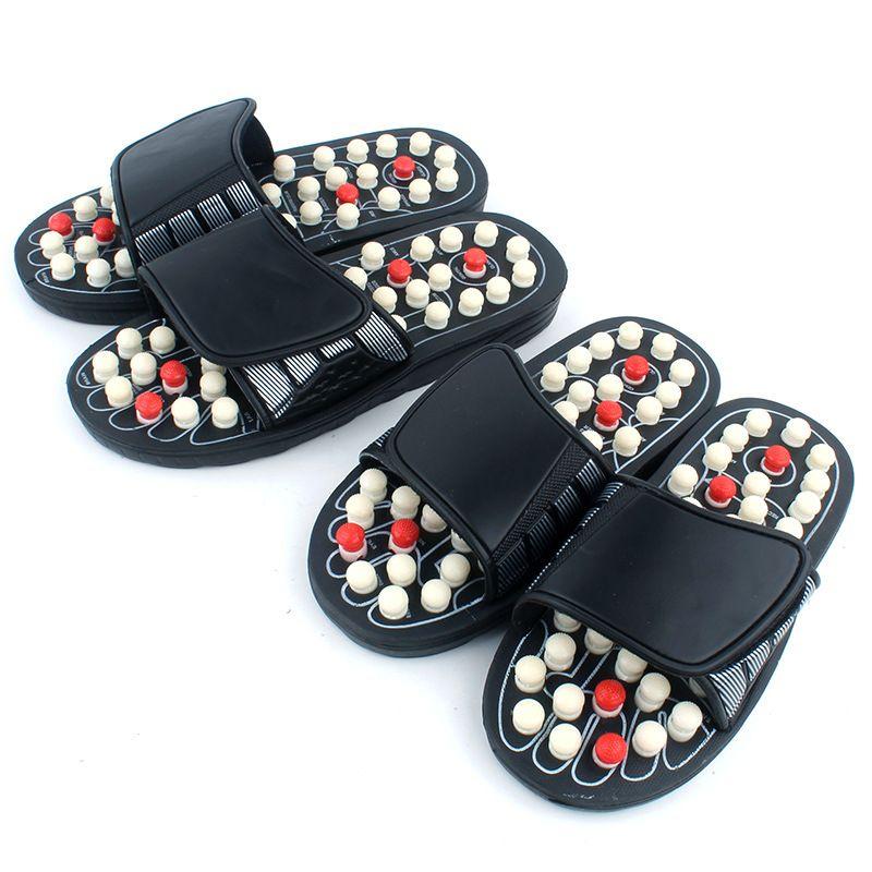 Acupoint Massage pantoufles sandale pour hommes pieds chinois acupression thérapie médical rotatif pied masseur chaussures unisexe