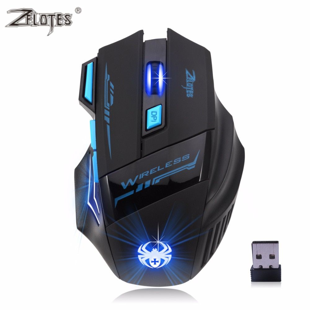 Professional Wireless Mouse Gaming Mouse Optical 2400DPI <font><b>2.4G</b></font> Computer Mouse LED 7 keys Gaming Mice For Pro Gamer High Quality
