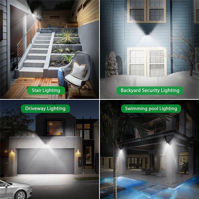 ARILUX PIR Motion Sensor Solaire Lampe 10 w LED Lumière 66 COB LED Étanche Lumière Extérieure Grand Angle Mur Lampe