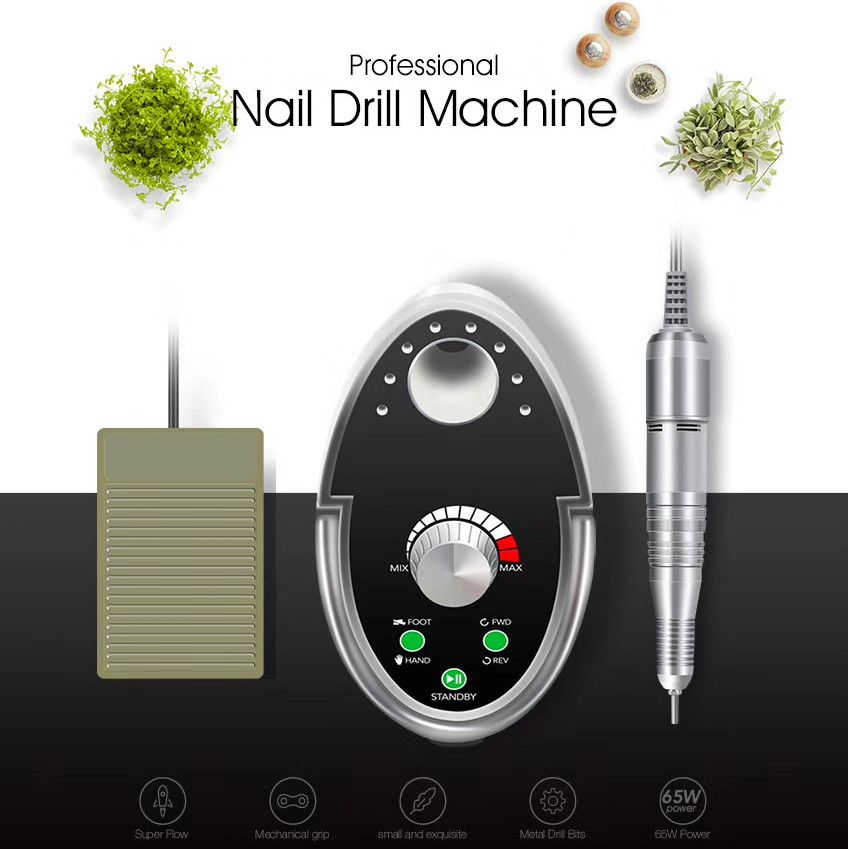 Cappucci 65W Nail Drill Manicure Set 35000RPM Machine For Manicure Pedicure Files Nail Art Polish Cutters For Manicure