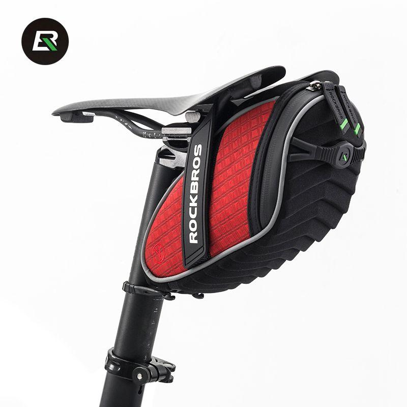 Rockbros sac de vélo de route de montagne siège de vélo sac de selle vitesse fixe cyclisme arrière sac de queue sacoches noir rouge accessoires de vélo