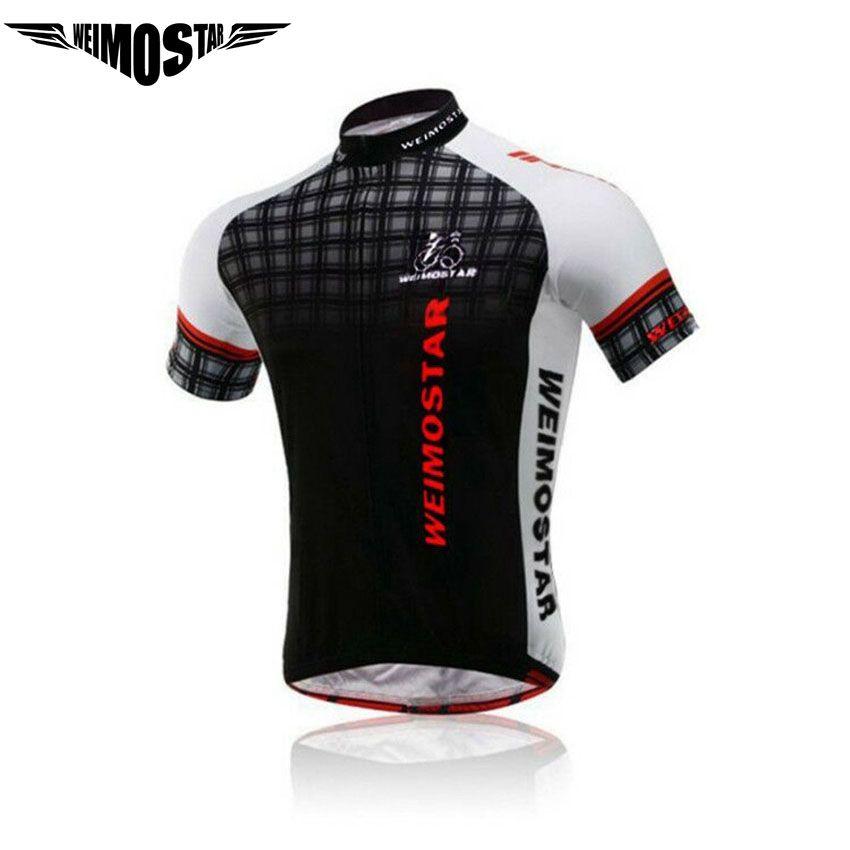 Weimostar Hommes de Cyclisme Jersey Vêtements vtt D'été Pro Équipe Tops Chemise Rapide-Sec Ropa Ciclismo Maillot Vêtements Vélo Jersey