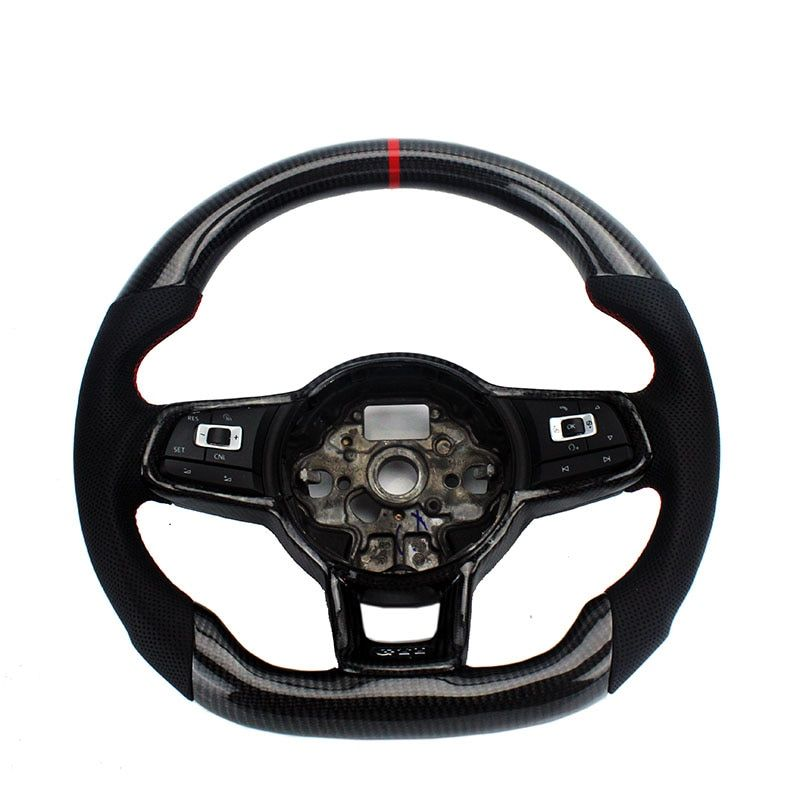 Carbon Fiber Replacement Steering Wheel For FIT VW Golf 7 GTI Golf R MK7 Jetta Passat Polo GTI Scirocco 2014-2018