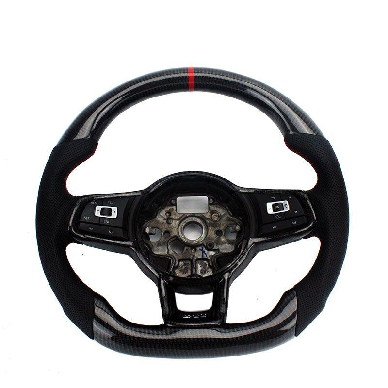 Ersatz Carbon Lenkrad Für FIT VW Golf 7 GTI Golf R MK7 Jetta Passat Polo GTI Scirocco 2014 -2018