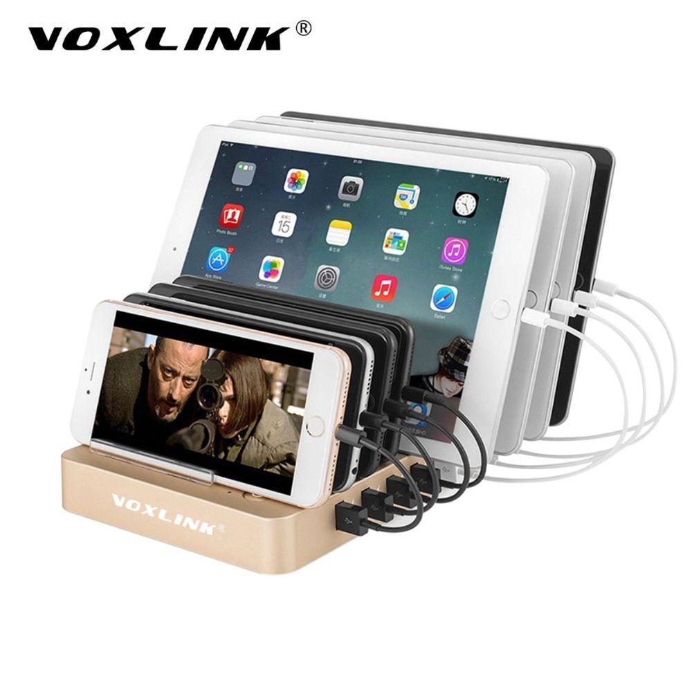 Voxlink 8-ports qc3.0 usb de bureau station de recharge avec 2 ports rapide charge 96 w 3.0 pour iphone 7 plus samsung lg htc comprimés