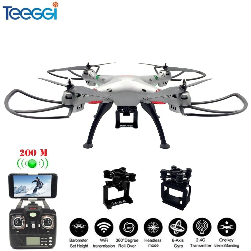 Teeggi M8A FPV RC Drone Quadcopter With Gimbal For Gopro5/6 EKEN SJCAM XIAOYI Action Camera Professional Dron VS SYMA X8 X8HG