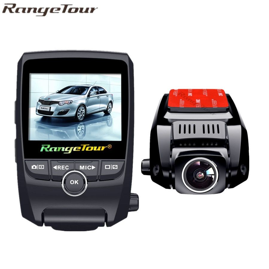 Range Tour Car DVR Front And Back Camera FHD 1080P+HD 720P Dash Cam Night Vision Car Camera Built in GPS Tracker Black Box