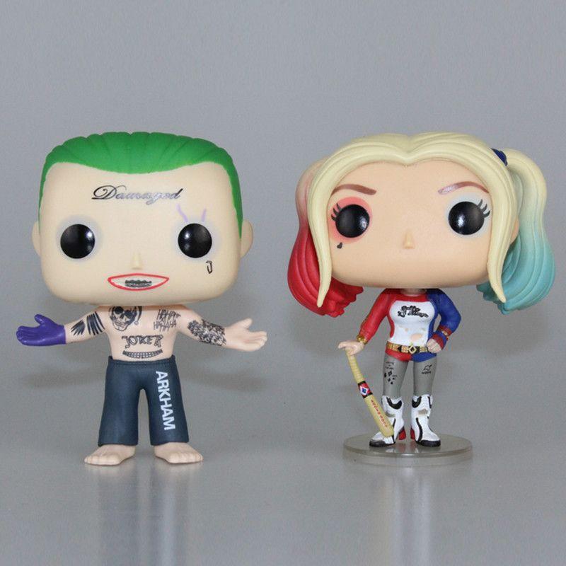 Coffret Original Suicide Squad Harley Quinn PVC 10 CM Harly figurine Super héros Collection modèle film enfants jouets