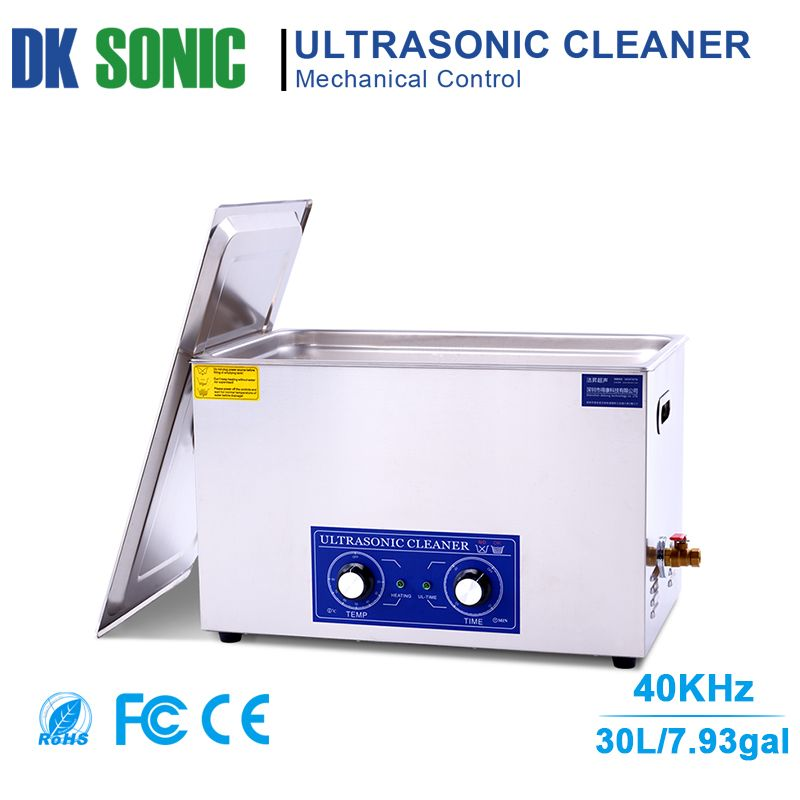 30L Large Ultrasonic Carburetor Cleaner with Knob Control for Industrial Hardware Accessories Golf Clubs Motor/Auto Parts