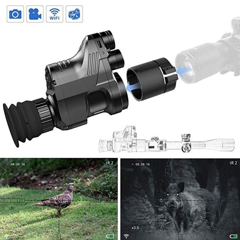 PARD 200m Infrared Hunting Digital Night Vision IR Monocular Telescopes Video Recorder 1080P night vision riflescope