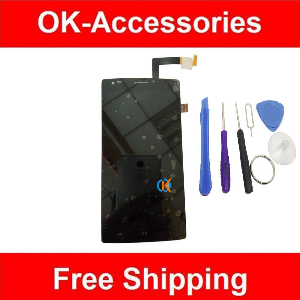 For FLY IQ4505 Quad Era Life 7 IQ 4505 LCD Display+Touch Screen Digitizer Assembly High Quality Black Color 1PC/Lot With Tools