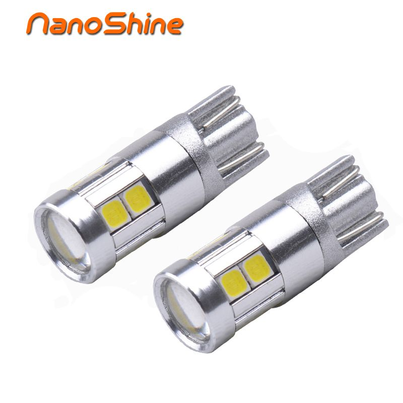 Nanoshine 2 шт. супер яркий 9smd W5W T10 светодиодный источник света автомобиля авто автомобиль просвет лампа автомобиль-Стайлинг 12 В 24 В для лада