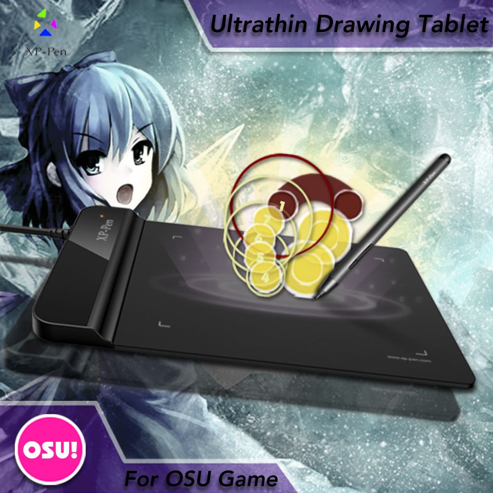 The XP-Pen G430S 6 x 4 inch Graphic Drawing Tablet for OSU! gameplay with our Battery-free stylus design