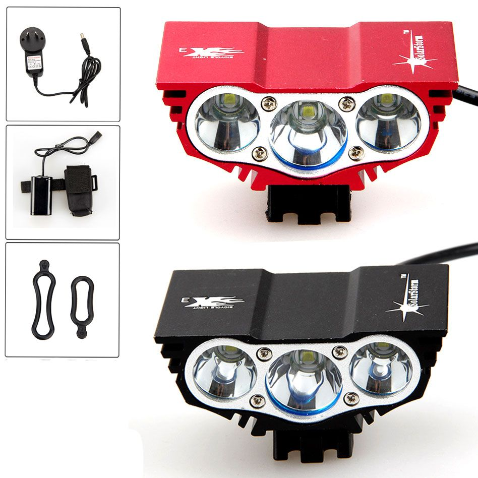 Solar Storm 7000lm 3xXM-L U2 Bicycle Light LED Rechargeable Waterproof Cycling Bike Led Light Night Torch Bike Accessories