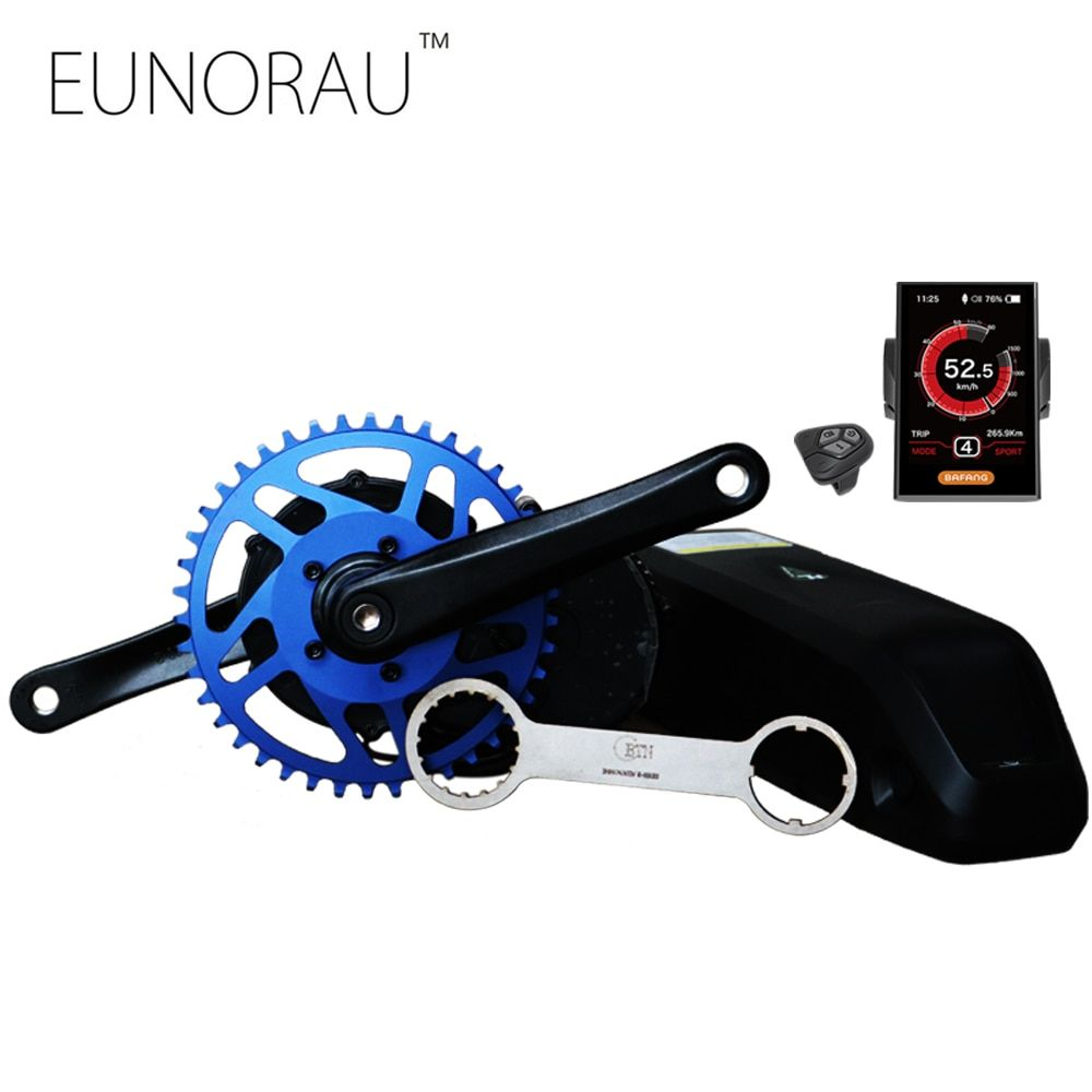 free shipping New design 2018 Bafang/8fun BBS01B 36V350W electric bicycle kit mid crank motor with color display MM G340.350