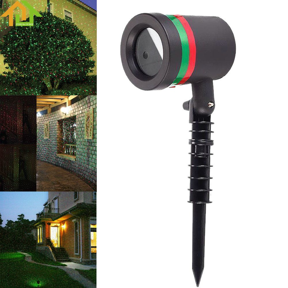 Outdoor Waterproof Garden Tree Moving Laser Projector LED Stage Light Christmas Lights
