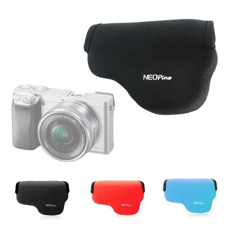 portable Neoprene Soft Camera Bag For SONY A6000 A6000L A6300 with 16-50mm Lens Camera Case protective Cover Pouch ultra light