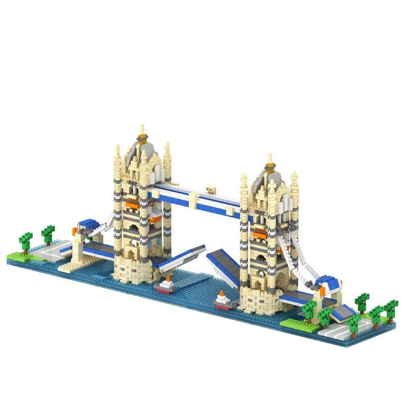 Twin Bridge Twin Towers Big Ben in London Arc de Triomphe Model Compatible LOZ Building Blocks Best Educational Toy for Children