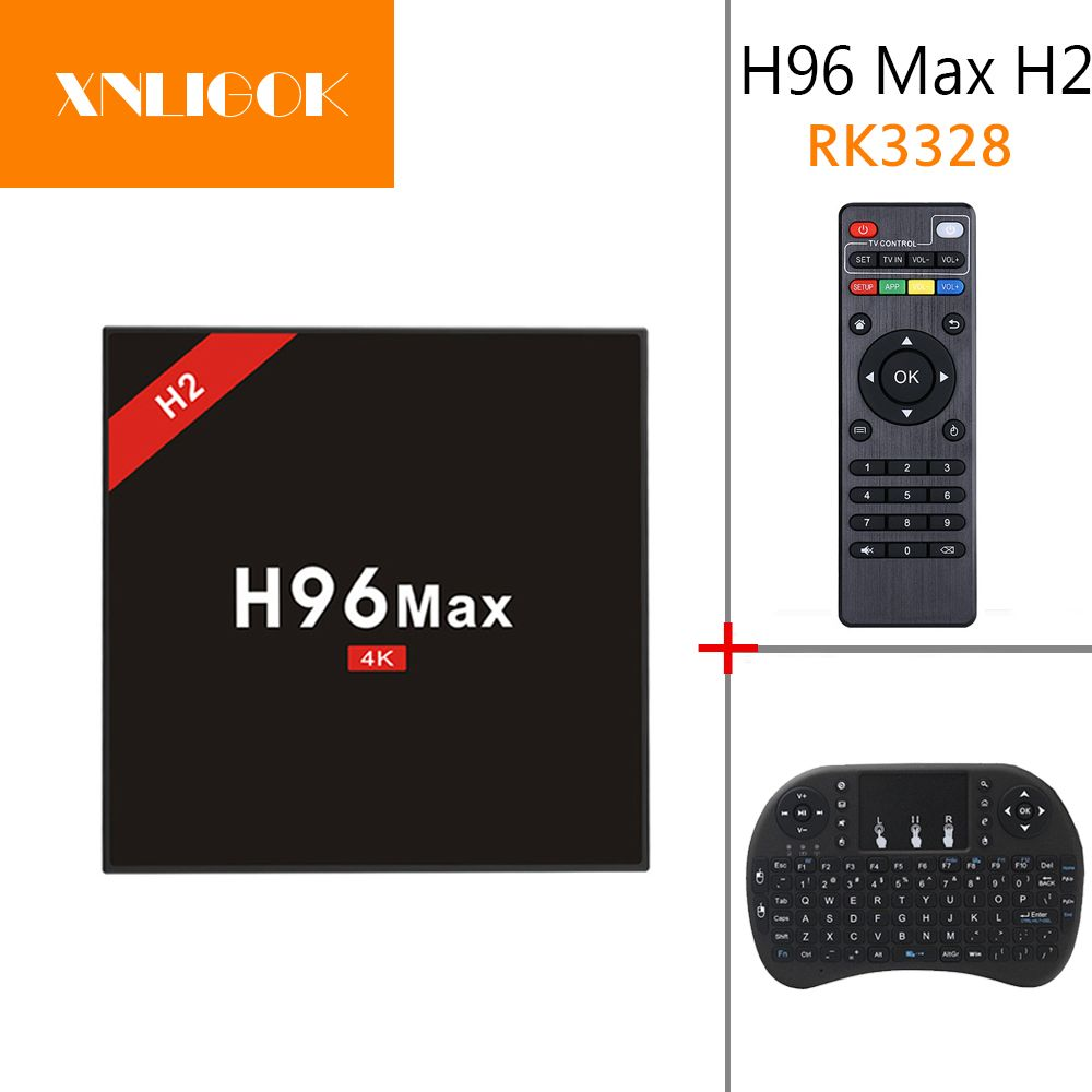H96 MAX H2 TV Box RK3328 Quad Core Android 7.1 OS 4GB RAM 32GB ROM 4K Media Player wifi 2.4G/5G USB 3.0
