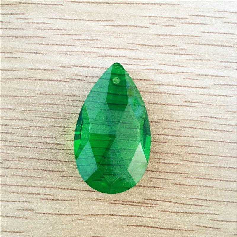 Big Sale 120pcs/lot 38mm Dark Green Crystal Chandelier Pendants Crystal Almond Drop Hanging Pendants,Strand Pendants For Decor